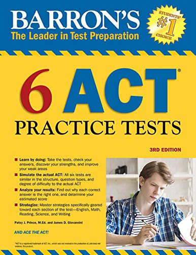 6 ACT Practice Tests (Barron's Test Prep)