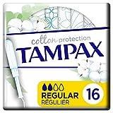 Tampax Cotton - Protezione regolare con applicatore X 16, cuore di timbro, in cotone biologico