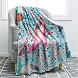 """Jekeno Dolphin Blanket Print Cozy Ligtweight Durable Bed Couch Blanket Plush Microfiber 50""""x60"""""""