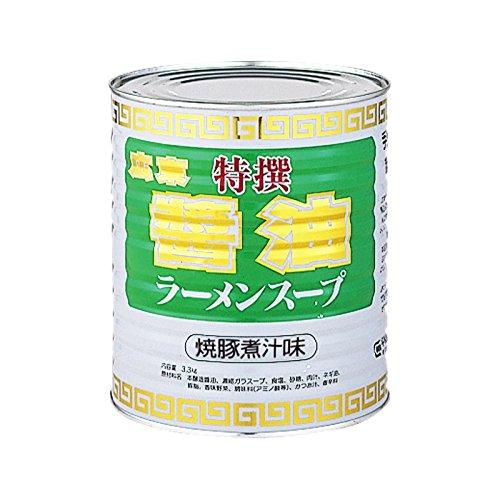 平和食品工業 広東特撰醤油ラーメンスープ 3.3kg缶×6
