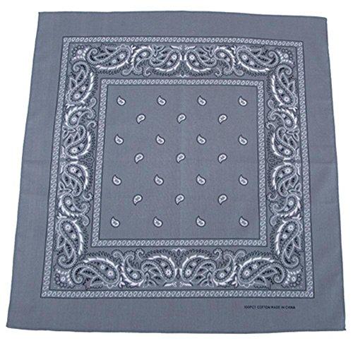 bandana, coton, 55 x 55 cm, Couleur:grau/grey