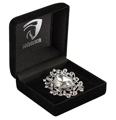 Horka Stockpin Diamant Cristal pour Femme Homme d'équitation compétition Accessoires, Silver