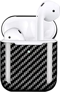 MONOCARBON Genuine Carbon Fiber Case Compatible for New AirPods 2 with Wireless Charging Case Ultra Slim Carbon Fibre Cover for Apple Wireless Earbuds - Glossy Finishing