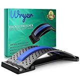 Back Stretcher for Pain Relief, Spine Aligner for Chair & Bed with Massager, Back Cracking Device, Lumbar Stretcher for Spinal Decompression, Scoliosis, Sciatica and Herniated Disc