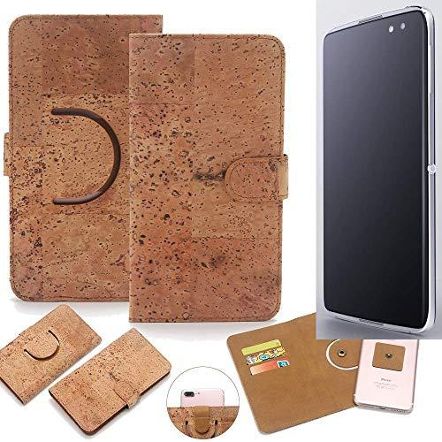 K-S-Trade Schutz Hülle Für Alcatel Idol 4S Handyhülle Kork Handy Tasche Korkhülle Schutzhülle Handytasche Wallet Hülle Walletcase Flip Cover Smartphone Handyhülle