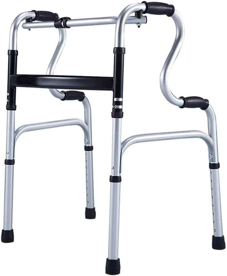 Kansas City Mall XHRHao Year-end annual account Folding Walking Frame Adjustable Walker with Wheels Aid W
