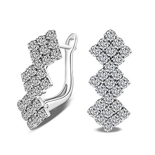 JINGM Boucles d'oreilles en Zircon Cubique pour Femmes Bijoux Cadeau d'anniversaire De Mariage