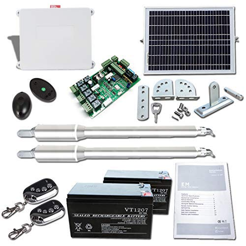 ECO-WORTHY Automatic Gate Opener Kit with Remote Heavy Duty Solar Kit for Dual Swing Gates 1322 lbs (Included Batteries)