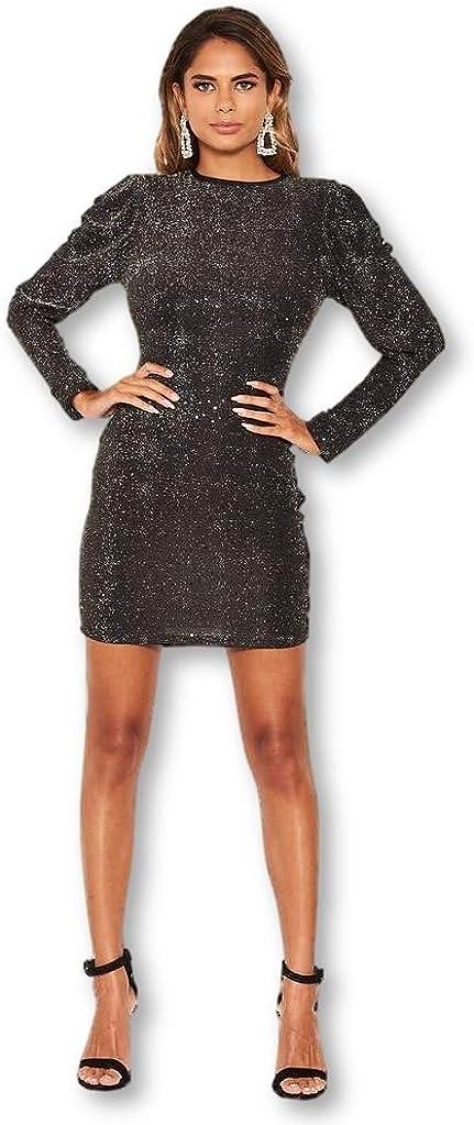 AX Paris Women's Sparkle Bodycon Dress
