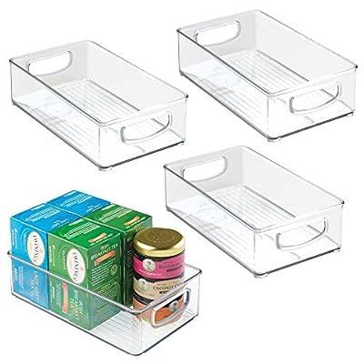 mDesign Plastic Kitchen Food Storage Organizer Bin by