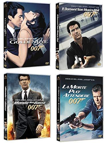 007 JAMES BOND PIERCE BROSNAN (4 FILM IN DVD) GOLDENEYE - IL DOMANI NON MUORE MAI - IL MONDO NON BASTA - LA MORTE PUO' ATTENDERE