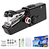 Handheld Sewing Machine, 18 Pcs Mini Handy Cordless Portable Sewing, Machine Electric Stitch Tool for Fabric Quick Repairing Suitable for Clothing, Kids Cloth Home Travel Use and DIY …