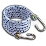 Ram-Pro 6 Pack 72' Long Bungee Cords Set with Galvanized Steel Hooks - Heavy-Duty Variety Pack of Thick Straps