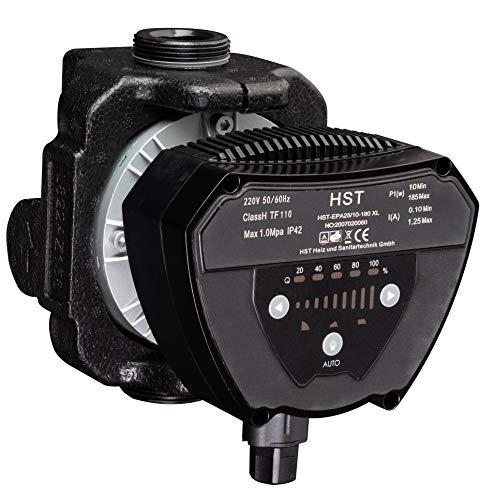 Hocheffiziente Heizungspumpe/Umwälzpumpe HST EPA 25/10-180 XL; inkl. Verschraubungen und Dichtungen; Förderhöhe 10Meter, Fördermenge 7m³/h, Energieklasse A
