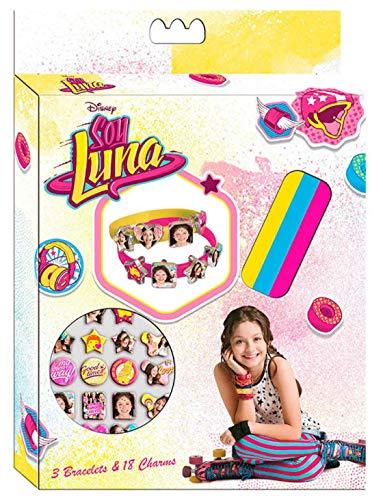 Soy Luna Caja creación con 3 pulsera y 18 abalorios, unica (Kids Euroswan WDSL006)