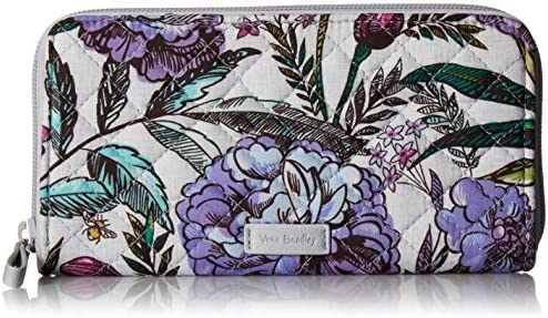 Vera Bradley Women s Signature Cotton RFID Georgia Wallet Lavender Meadow One Size product image