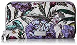 Vera Bradley Women's Signature Cotton RFID Georgia Wallet, Lavender Meadow, One Size