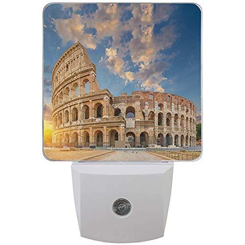 Katrine Store Italien Rom Kolosseum Flavian Amphitheater LED Nachtlicht Auto Sensor Dämmerung bis Morgendämmerung Plug-in Indoor für Erwachsene