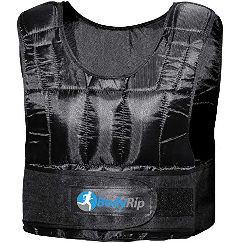 BodyRip Weight Vest Comfort Padded Deluxe 2.0 Design | One Size Fits All, Adjustable, Breathable Fabric, Removable Weights, | Home, Gym, Fitness, Exercise, Fat Loss, Pilates, Aerobic, Workout | 5kg