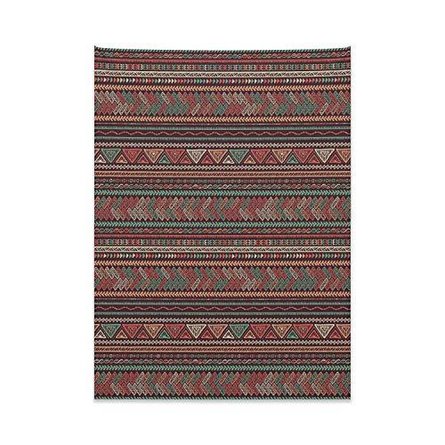 ABAKUHAUS Boho Tapiz de Pared y Cubrecama Suave, Motivos Latinoamericanos, Colores Firmes y Durables, 110 x 150 cm, Multicolor