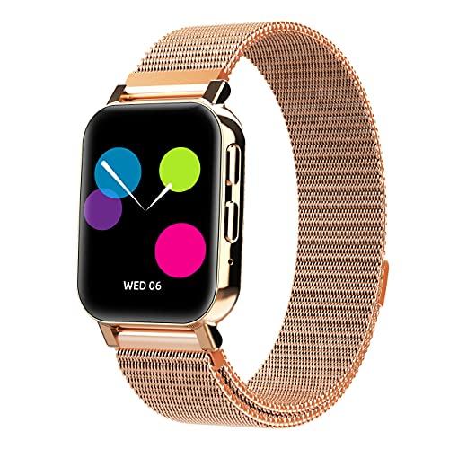 ZGZYL Hz28 Smart Watch Señora con Función del Teléfono, Reloj De Fitness con Presión Arterial Y Monitoreo De Ritmo Cardíaco STRATWATCK PEDÓMETRO Reloj Deporte Deporte,F