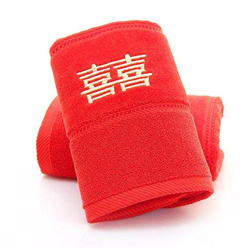 ZHFC serviette box seul chargement mariage anniversaire mariage anniversaire employé année don prix seront 74x33cm,red de lilas