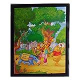 Tableau Winnie l'Ourson, Porcinet, Tigrou et bourriquet 20 x 25 cm Disney cadre hundred