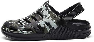WYTX Verano Hombres Zuecos Secado rápido Zapatillas de casa Casuales Zapatos de jardín Masculinos Sandalias de Playa Mulas...