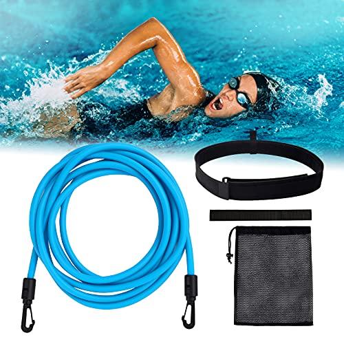 Elastico Nuoto, 4M Cinture da Piscina Regolabile, Elastico per Nuoto Statico, Cinture da Allenamento per la Nuotata Adulti e Bambini, uso Professionale, Amatoriale o Ricreativo