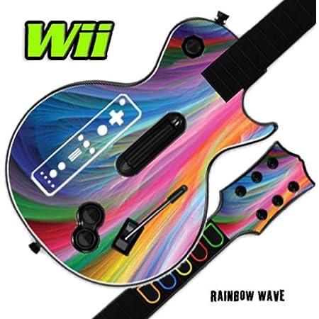 Mightyskins Skin Decal Skin Compatible with Guitar Hero 3 III Nintendo Wii Les Paul - Rainbow Wave