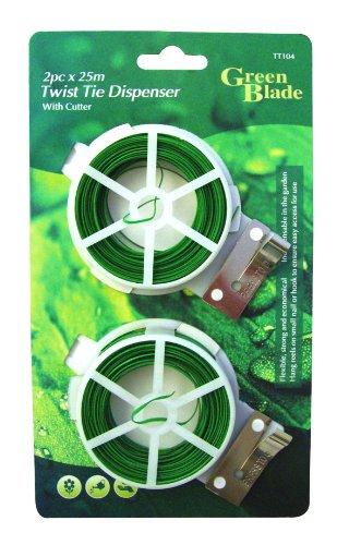 Green Blade Set 2Kabelrollen für Pflanzen mit integriertem Cutter, ideal für Kletterpflanzen