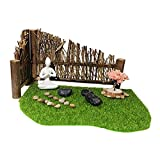YEJIE Miniaturmodell Miniatur Fairy Garden Ornament Künstliche Gras Rasenzaun Yoga Statue Fit Für Indoor Outdoor Patio Porch Home Decorations Dekorationsverzierungen (Color : 5AC603403)