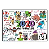 Rompecabezas de Navidad 2020 para adultos y niños 10000piezas Rompecabezas conmemoración 2020 para juguetes para niños,para diversión familiar,actividad en el interior para conmemorar este año extraño