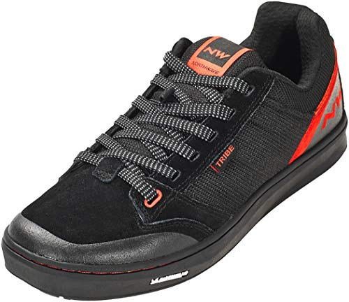 NORTHWAVE Sapatos MTB NW Tribe, Zapatillas Unisex Adulto, Black/Red, 42 EU