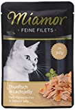 Miamor Feine Filets in Jelly Pouch Thunfisch in Lachsjelly, 24er Pack (24 x 100 g)