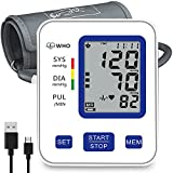 Blood Pressure Monitor Upper Arm - BP Monitor Home Use with 2 Users 198 Memory, Automatic Heart Rate Pulse Monitor with Large Screen Display,Storage Bag, Unique Gifts Ideal for Dad Mom