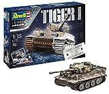 Revell Geschenkset 75 Jahre Tiger I im Maßstab 1:35, Level 5, Orginalgetreue Nachbildung mit vielen Details 05790, unlackiert