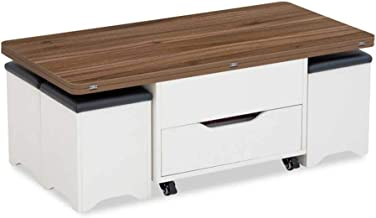 Coffee Table with Hidden Storage Compartment & Drawer - Lift Top Coffee Table - Side Table Storage Cabinet for Living Room...