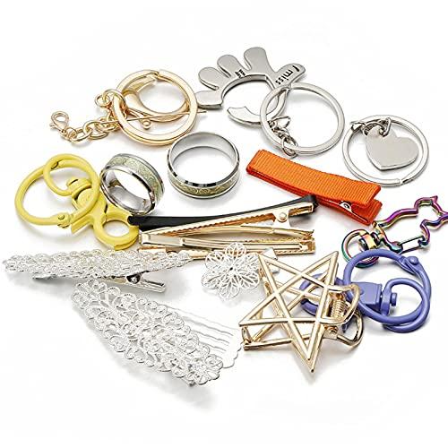DIY Lucky Bag llavero clips para el cabello caja misteriosa liquidación aleatoria joyería de metal componentes accesorios para manualidades regalos DIY