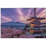 富士山 ふじさん8 のジグソーパズル1000ピースセクシーなカップルの木製ジグソーパズルゲーム青年パズルゲームおもちゃギフ 大人の減圧アニメの男性と女の子のパズルのおもちゃ