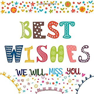 Best Wishes We Will Miss You: Message Book For Retirement, Leaving Farewell, Message For Graduation, Keepsake Memory Book For Family And Friends ... Wishes And Advice (Occasions Guest Books)