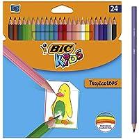 BIC TROPICOLORS, Caja con 24 Lápices de Colores, 24, Multicolor