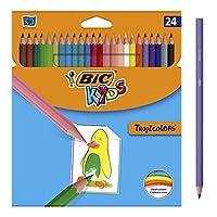 Ces 24 crayons de couleur sont conçus pour que les enfants dès 5 ans apprennent à colorier des surfaces larges ou moyennes De forme hexagonale, ils sont dotés d'une mine de 2,9 mm, fabriquée à base de pigments de qualité Disponibles dans une palette ...