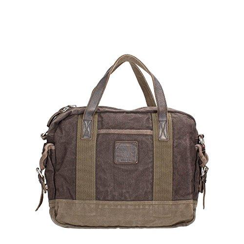 Borsa Mano e Tracolla Uomo Donna Marrone Napapijri Bag Chestnut EAgle Briefcase Men Woman Brown N7R03