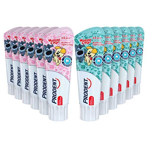 Prodent Kids 0-6 jaar Woezel & Pip Tandpasta 12 x 75 ml Voordeelverpakking