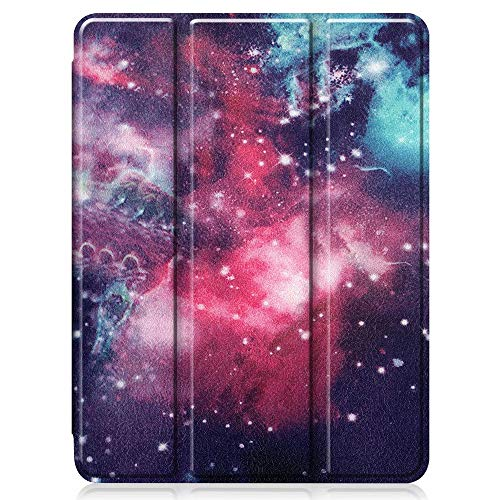 GHC PAD Cases & Covers For iPad 10 2 10.2, TPU Pen Slot Tablet Case PU Leather Smart Sleep Cover Stand Case for Apple iPad 10 2 10.2 2019 7th Gen A2200 A2198 A2232 (Color : Pattern 4)