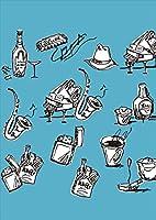 igsticker ポスター ウォールステッカー シール式ステッカー 飾り 841×1189㎜ A0 写真 フォト 壁 インテリア おしゃれ 剥がせる wall sticker poster 014641 音楽 楽器 バー
