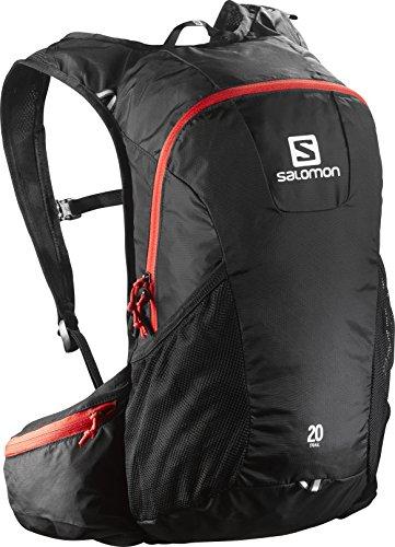 Salomon Trail 20 Backpack, Unisex Adulto, Negro (Black/Bright Red), 48 cm