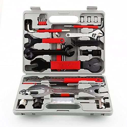 Fahrrad Werkzeugkoffer, 48 TLG. Set, Fahrrad Werkzeug Set, Fahrrad Reparatur Werkzeug Set mit Tragekoffer, Fahrradwerkzeug für Fahrrad Montagearbeiten und Reparaturen,Multitool