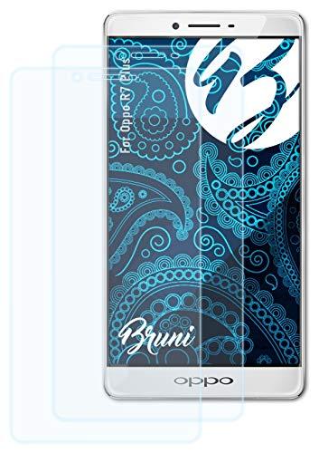 Bruni Schutzfolie kompatibel mit Oppo R7 Plus Folie, glasklare Bildschirmschutzfolie (2X)